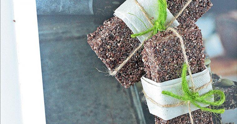 Barrette vegan con semi di canapa