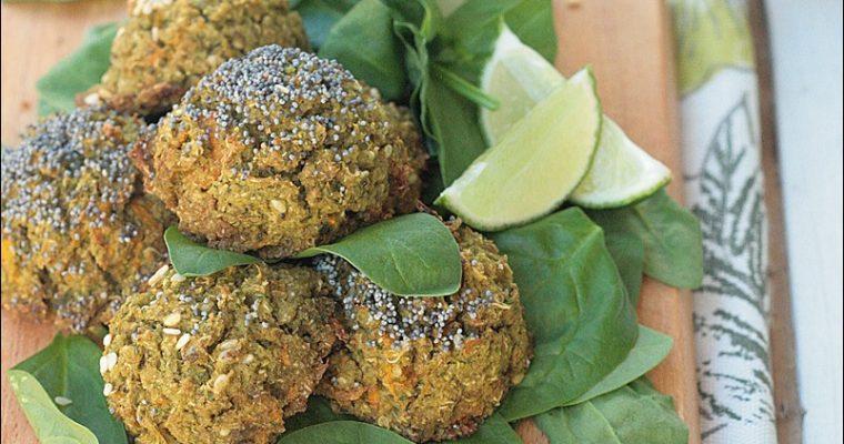 Polpette di quinoa e azuki verdi