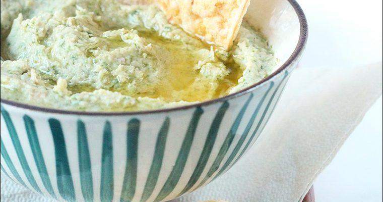 Hummus di ceci con scarti dell'estratto