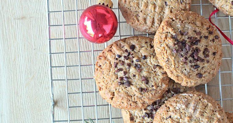 Biscotti di Natale: cookies alle nocciole e cioccolato