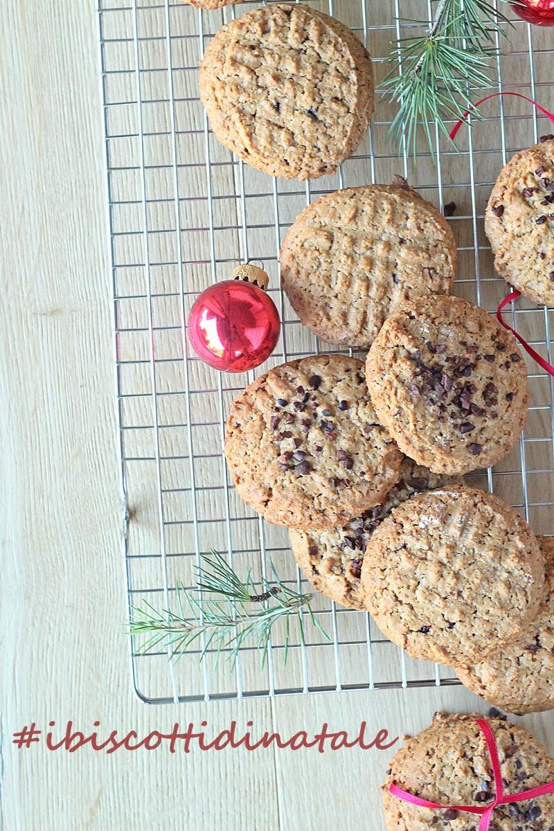 Dolci Di Natale Con Nocciole.Biscotti Di Natale Cookies Alle Nocciole E Cioccolato