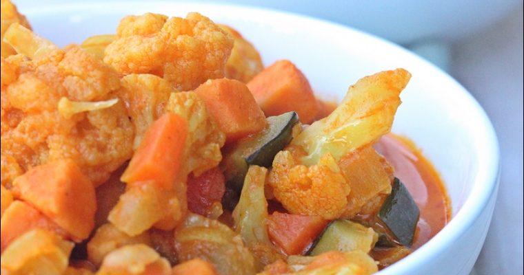 Curry vegan con riso al cocco