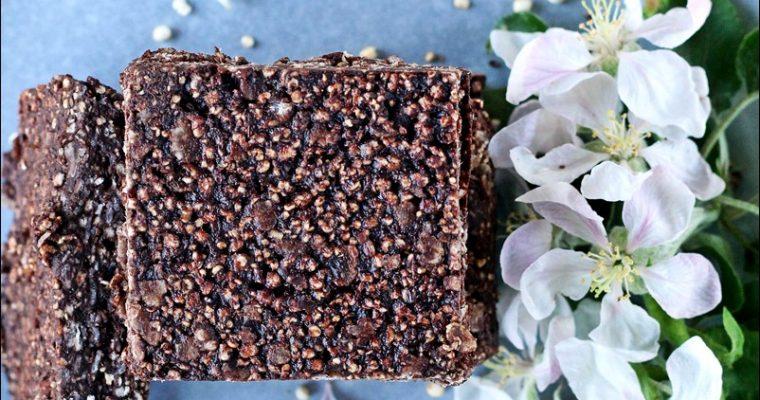 Barrette di quinoa e cioccolato