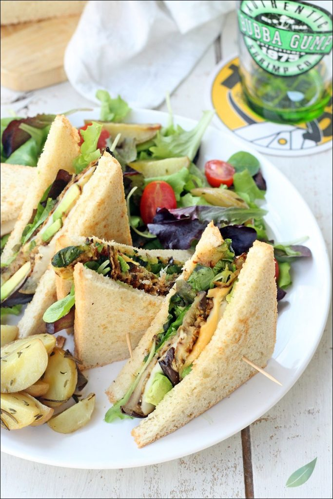 club sandwich vegetariano