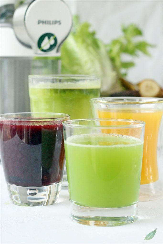 quattro ricette di estratti di frutta e verdura