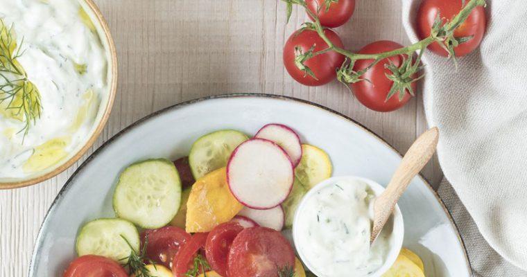 Insalata di pomodori e tzatziki