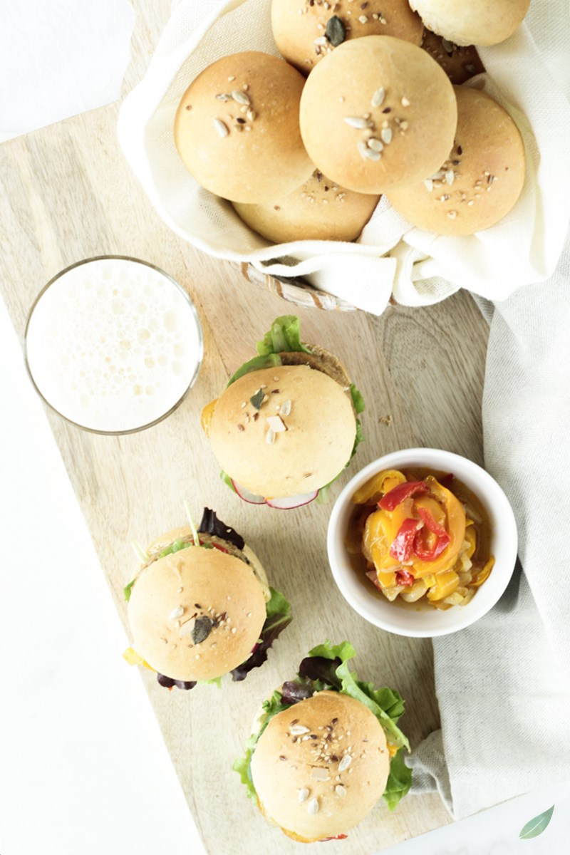 vegan burger di primavera