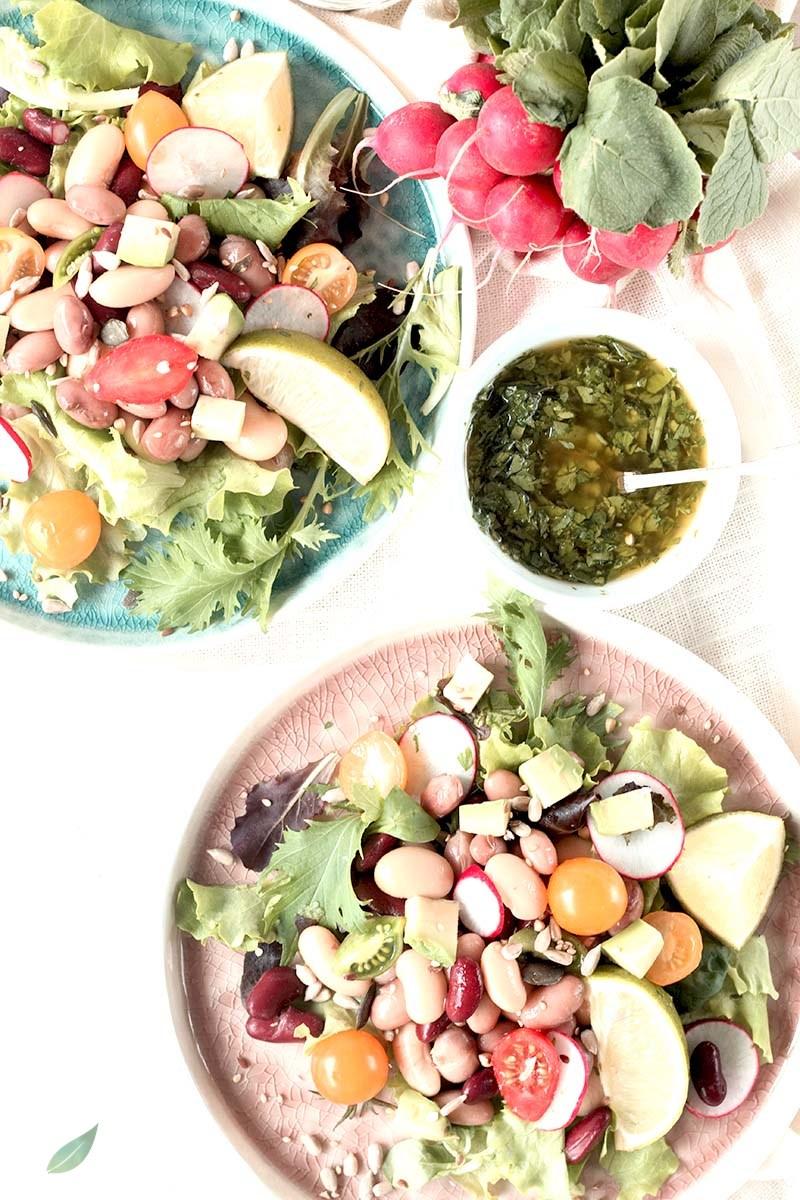 insalata di legumi estiva