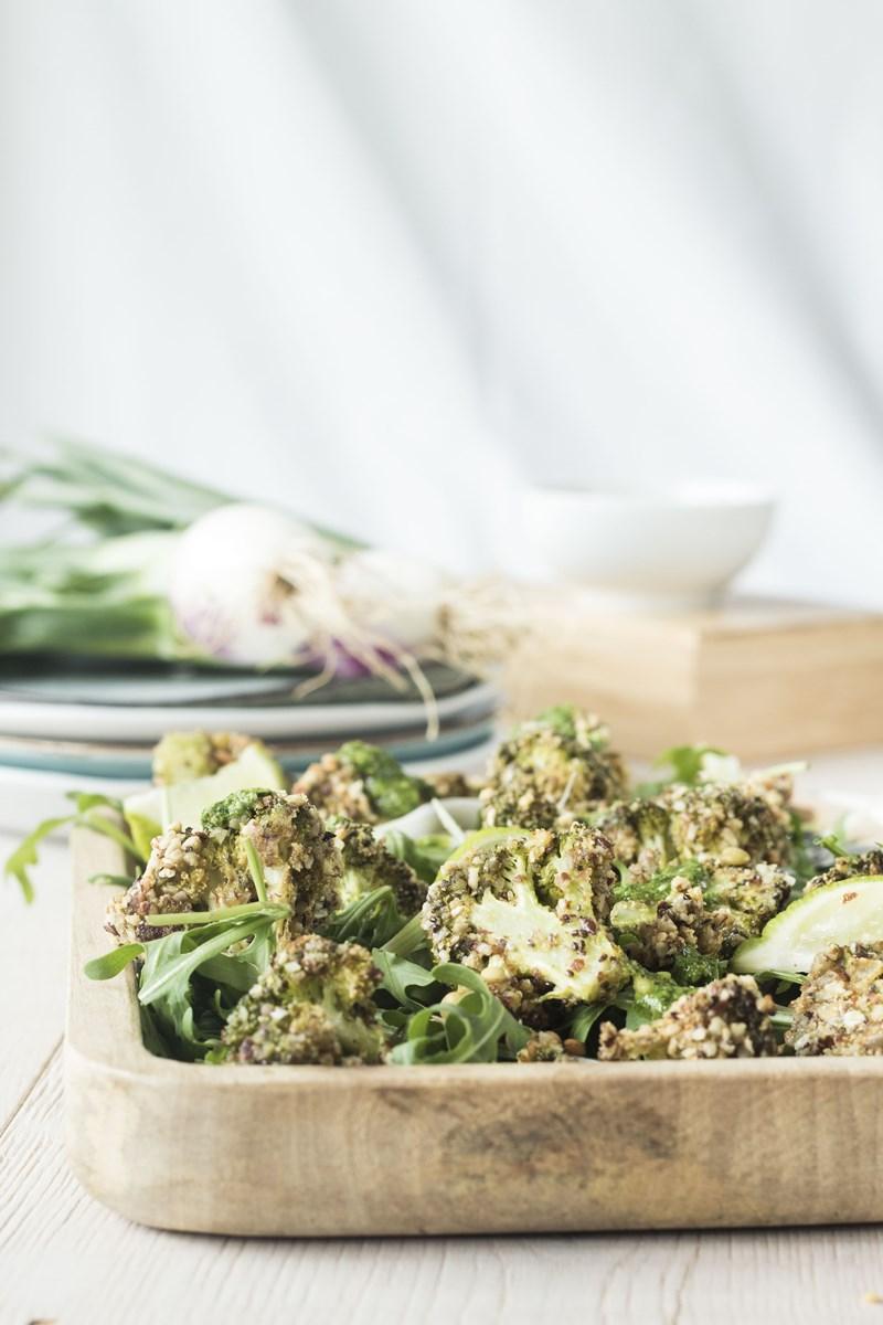insalata di broccoli e lenticchie