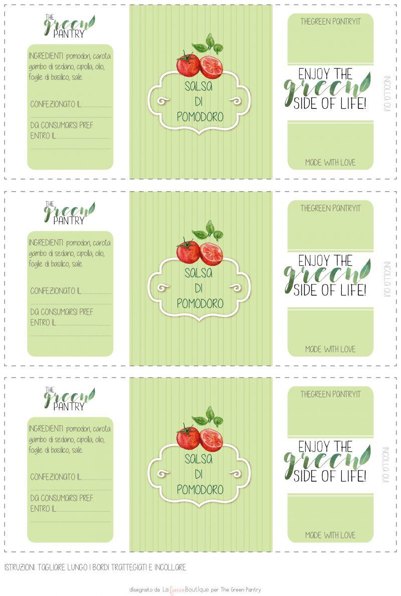 salsa di pomodoro con estrattore