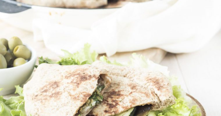 Pita vegetariane in padella