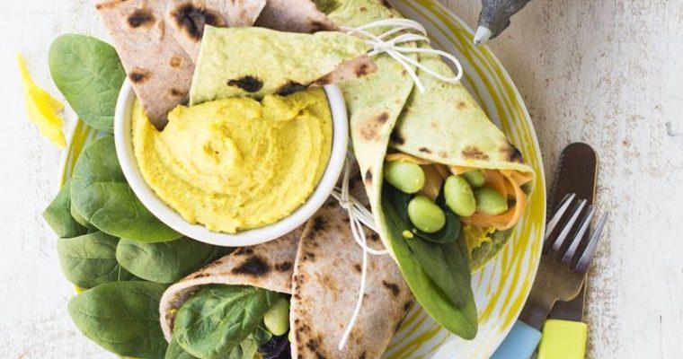 Piadine fatte in casa: facili, veloci e colorate per una merenda sana.