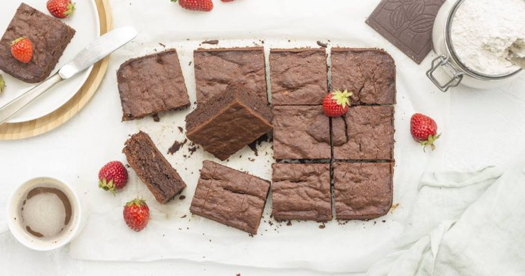 Brownies al Cioccolato e Banana con farina di Fagioli Neri