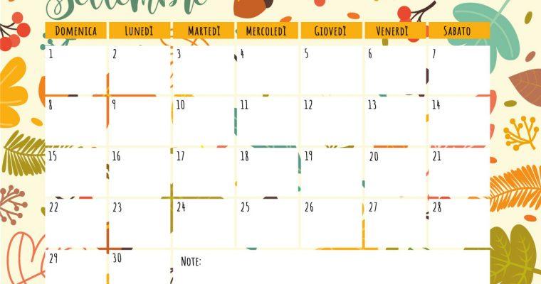 Benvenuto Settembre: mese di nuovi progetti e nuove avventure.