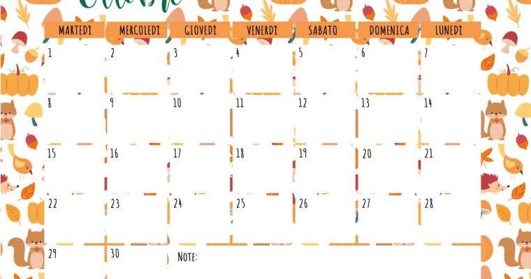 Benvenuto Ottobre: I tuoi Free Printable mensili e un Banana Bread Vegano