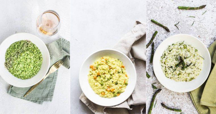 Risotti Facilissimi di Primavera: Tre ricette Vegane e Kid Friendly