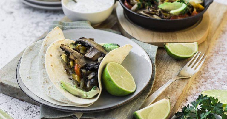 Fajitas Vegane con funghi Portobello