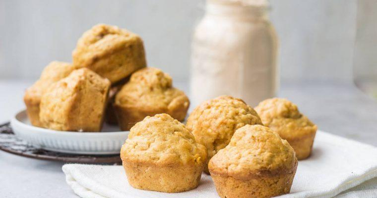 Muffins Facilissimi con Carote e Farina di Lenticchie